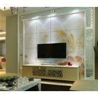 瓷砖背景墙品牌 彩虹石 欧式背景墙装修效果图 简装修电视墙效果图-朝华