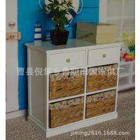 简易时尚zakka创意高档白色六抽式欧式床头柜 现货酒店床头柜