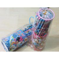 学生用品文具批发 联众迪士尼36支桶装皮头铅笔 木工铅笔Z87170