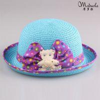 2014夏秋热销新款正品迪士尼儿童女童草帽宝宝帽遮阳帽太阳帽批发