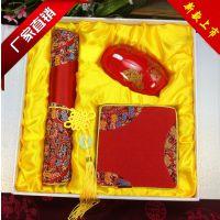 南京云锦鼠标垫套装教师节特供礼品厂家直销办公实用小礼品