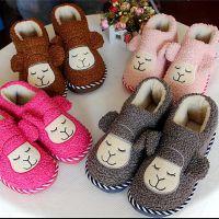 冬季新款小绵羊包跟棉鞋 情侣保暖棉拖鞋 室内居家防滑拖鞋批发