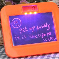 电子智能电子荧光留言板/写字板 录音闹钟 带LED灯 时钟 发光