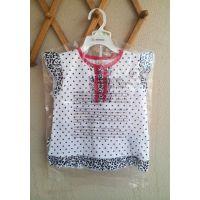 欧美外贸原单品牌童装 短袖波点套装 夏款 女童二件套 婴幼儿T恤