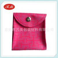 超纤皮革首饰袋 时尚按扣首饰袋 金银珠宝首饰袋 烫金logo首饰袋