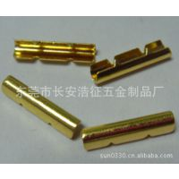 【厂家供应】金色鞋带金属头|五金绳夹