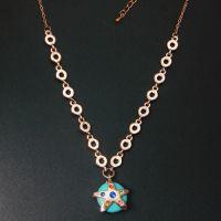 饰品批发 高档外贸新款饰品绿松石真金海星项链-卜卦 H2902-99