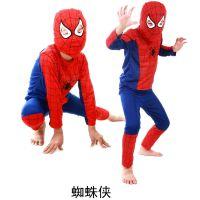 万圣节 儿童表演服 儿童超人 蝙蝠侠 套装 超级英雄 蜘蛛侠服装
