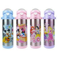 正品迪士尼保温杯 不锈钢儿童保温杯 500ml真空儿童吸管杯HM2207