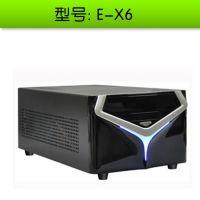 立人E-X6 双3.5寸硬盘 配电源  标准电脑ITX机箱