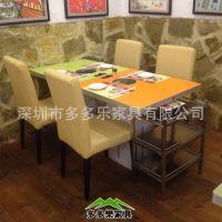 【多多乐】贴纸防火板餐厅酒店火锅桌椅定做|中式电磁炉火锅餐桌
