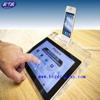 供应定做iphone4透明展示架 亚克力苹果手机架 手机托架 底座 深圳