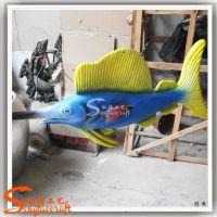 厂家直销 天然树脂工艺品 景观装饰仿真剑鱼