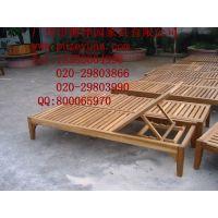 厂家供应优质防腐木躺椅,泳池椅(可来样订做)