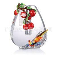 罗比罗丹大吉大利花瓶(小)水晶摆件居家乔迁结婚礼品R-9320L