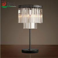 高端灯具欧式仿古耐斯特客厅 书房 卧室按钮式水晶广东台灯