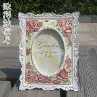 6寸田园树脂相框欧式摆台相架结婚照片框影楼精品专供商务礼品