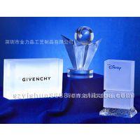 工厂专业定做亚克力展示牌时尚透明压克力透明水晶奖牌奖杯