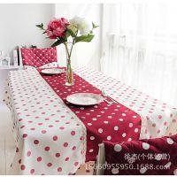 现代简约风格 红豆桌布餐椅13件套 桌布批发