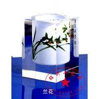 供应深圳十佳工艺品厂家 直销批发 质量保证 水晶内雕内画笔筒