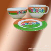 义乌鸿叶供应密胺美耐皿餐具12件套 盘碗杯套装 礼品彩盒装