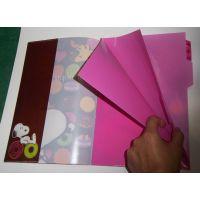 专业生产PVC书套,软胶书本保护套,彩色磨砂书皮,卡通书皮套