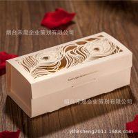 韩国唯思美厂家直销欧式创意米色结婚喜糖盒子 创意婚庆用品CB022