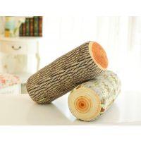 个性创意 树桩砧板抱枕靠枕坐垫 银杏梧桐树干毛绒玩具批发