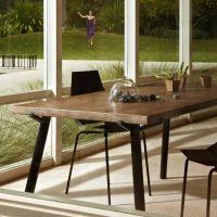 美式乡村复古风格松木家具餐厅实木餐桌工作台 长方形大型工业桌