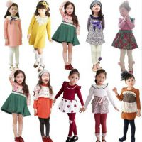 2015春秋装 女童长款英伦公主范娃娃领长袖连衣裙 儿童长袖裙装