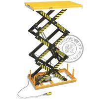 定制优客力三剪式HT1000电动升降台|钢制380V防夹剪叉电动平台|