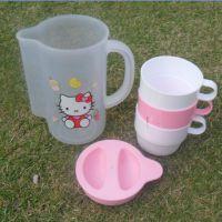 批发HELLOKITTY杯子冷水壶 卡通五件套水壶  900ML水杯 环保杯