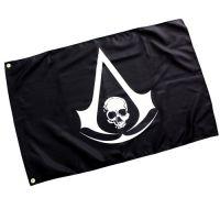 2014新款游戏周边刺客信条4黑旗标志海贼旗帜 Assassin'sCreed