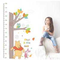 大树维尼熊身高贴卡通迪士尼墙贴儿童房幼儿园装饰贴纸画ABC1020