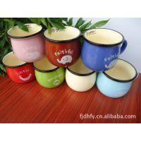 zakka杂货【大号】仿搪瓷杯 迷你早餐杯 咖啡杯 牛奶杯 4029