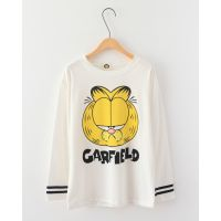 百搭休闲可爱卡通超萌的加菲猫字母宽松短袖Tee恤