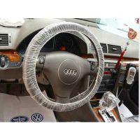 厂家供应汽车一次性高压乳白方向盘套/一次性塑料高压把套/一次性PE高压把套
