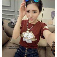 2014夏装新款韩版3987#萌到爆的简单大气卡通趣味加菲猫图案短袖T
