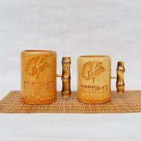 巨匠厂家定制西式环保竹根手柄竹制茶杯水杯茶道用品