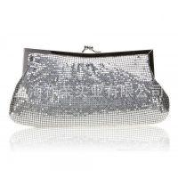 厂家直销铝片夹口包 铝片包 铝片晚宴包 铝珠包 金属亮片服装配饰
