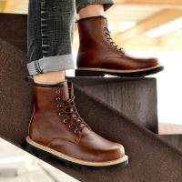 2014新款军靴皮靴男士中筒马丁靴真皮英伦时尚短靴潮流韩版男靴子
