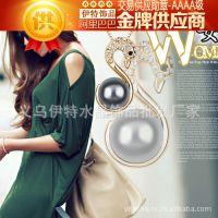 淘宝免费代理一件代发直销闪钻天鹅珍珠项链-女人的颜色 H2881-53