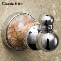 新品BH507全铜镀铬玉石圆形浴室挂件衣钩挂钩 卫浴五金挂件 开平