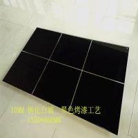 厂家加工简约客厅餐桌钢化玻璃桌面10MM钢化玻璃烤漆黑色工艺图案