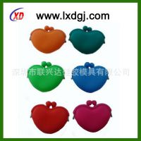 全球知名热销产品 韩版糖果色心形硅胶零钱包 口红包 加香味
