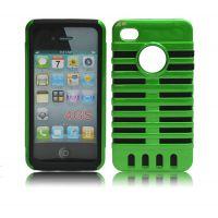厂家直销 麦克风二合一iPhone4手机套 苹果4g 4s双层保护套批发