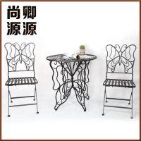厂家热销 创意餐饮户外桌椅 订制铁艺户外桌椅