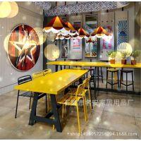 厂家直销铁艺实木桌椅  美式乡村复古实木家具 铁艺餐桌餐厅桌椅