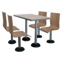 上品厂家直销学校食堂桌椅【SP-LT365】连体可固定员工食堂餐桌椅