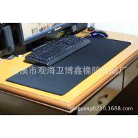 现货批发 超大办公桌垫 键盘垫 纯黑精密包边鼠标垫 当天可发
